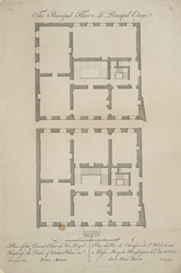 Plan of the ground floor of His Royal Highness the Duke of Yorks Palace in Pall Mall